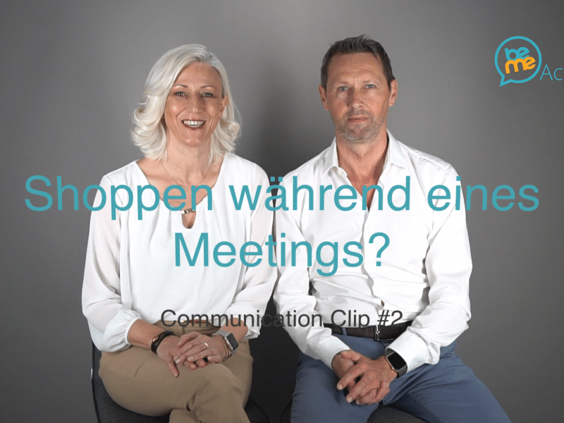 Shoppen während Meetings